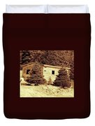 Old Shed Nothing Left But Memories Duvet Cover