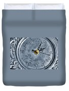Old Silver Clock Duvet Cover