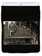 Old Spanish Sugar Mill Old Photo Duvet Cover
