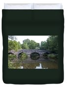 Old Sumneytown Pike Bridge Over The Perkiomen Creek Duvet Cover