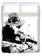 Old Time Fiddle Player No.560 Duvet Cover
