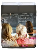 Old Time Learning Duvet Cover
