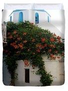 Old Town Church Paros Duvet Cover
