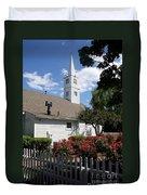 Old Town Mystic Church Duvet Cover