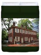 Old Town Philadelphia Brownstone House Duvet Cover