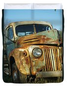 Old Tri-way Truck Duvet Cover