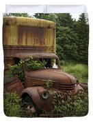 Old Truck In Rain Forest  Duvet Cover