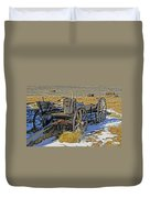 Old Wagon At Bodie Ghost Town Duvet Cover