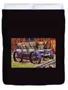 Old Wagon Bodie Ghost Town Duvet Cover