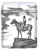 Old-west-art-cowboy Duvet Cover