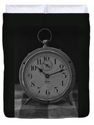 Old Westclock In Black And White Duvet Cover