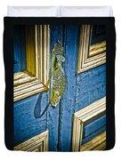 Old Wood Door Duvet Cover