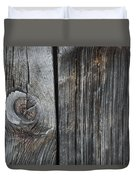 Old Wood On A Barn Iron Hill, Quebec Duvet Cover