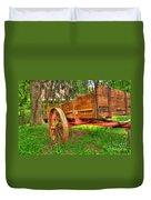 Old Wooden Cart Duvet Cover
