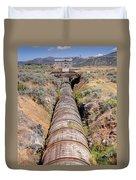 Old Wooden Water Pipeline - Rural Idaho Duvet Cover