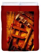 Old Worn Tools Duvet Cover