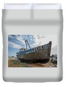 Old Wrecked Fishing Boat Duvet Cover