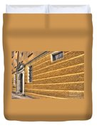 Old Yellow Building Duvet Cover