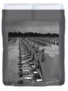 Oldiers Stand By For Inspection Duvet Cover