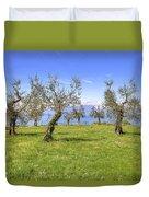 olive grove on Lake Gardan Duvet Cover