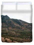 Olive Oil Mountain Duvet Cover