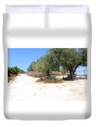 Olive Trees In Samaria Duvet Cover