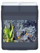 Olive Trees In The Background Duvet Cover