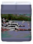 Olympic Lightweight Double Sculls Duvet Cover
