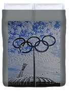 Olympic Stadium Montreal Duvet Cover by Juergen Weiss