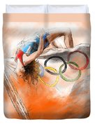 Olympics High Jump Gold Medal Ivan Ukhov Duvet Cover