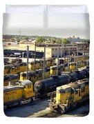 Omaha Union Pacific Maintenance Shops Duvet Cover