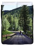 On A Country Road - Vail Duvet Cover