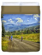 On A Country Road Duvet Cover