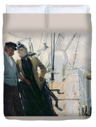 On Deck Duvet Cover by Louis Anet Sabatier