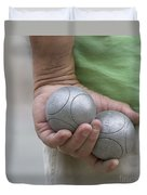 On The Boules Pitch Duvet Cover