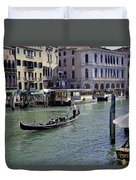 On The Canal In Venice Duvet Cover