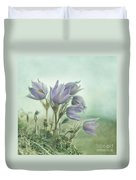 On The Crocus Bluff Duvet Cover
