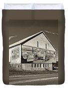 On The Lincoln Highway Sepia Duvet Cover