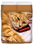 On The Phone Duvet Cover