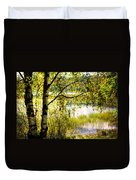 On The Shore Of The Loch Achray. Scotland Duvet Cover