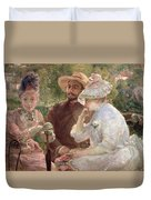 On The Terrace At Sevres Duvet Cover by Marie Bracquemond