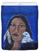 Onawa Native American Woman Of Wisdom Duvet Cover
