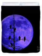 Once In A Blue Moon  Duvet Cover