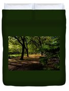 One Day In The City Park Duvet Cover