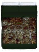 One Direction Faces Mosaic Duvet Cover