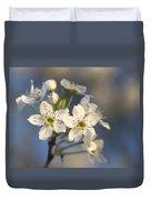 One Fine Morning In Bradford Pear Blossoms Duvet Cover