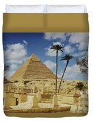 One Of The Pyramids Seen Behind An Arab Duvet Cover