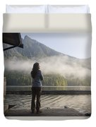 One Person, Woman, Mid Adult, 30-35 Duvet Cover