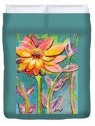 One Pink Flower Duvet Cover