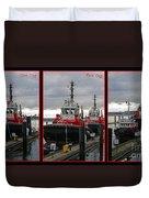 One Tug Two Tug Three Tug More Duvet Cover